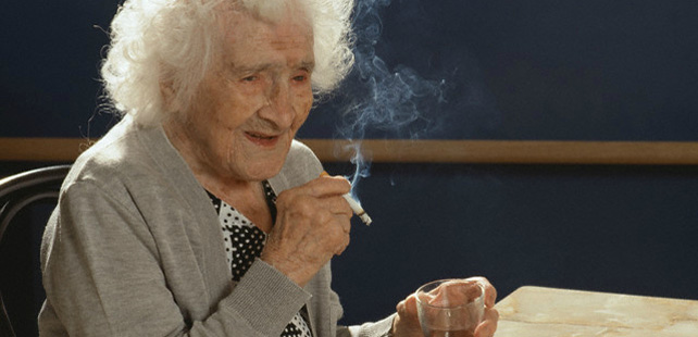The person who had the longest life in the world smoked for 96 years!
