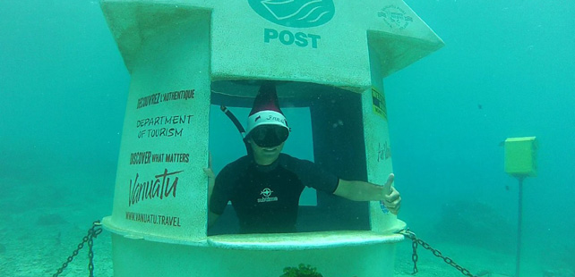 A country in the South Pacific Ocean has a submarine post office!