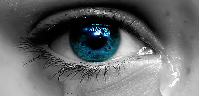 When you cry, you feed your cornea with nutrients!