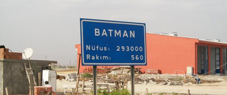 There is a province in Turkey named Batman!