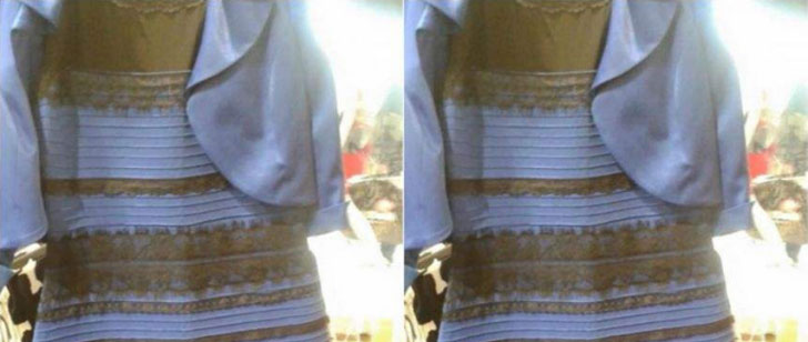 Why do we see that dress differently!