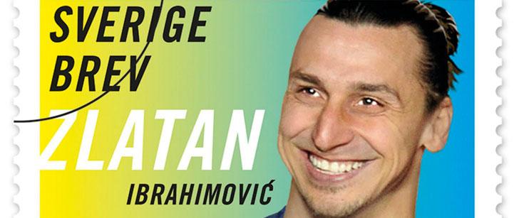 Zlatan Ibrahimovic a des timbres à son effigie au Suède !