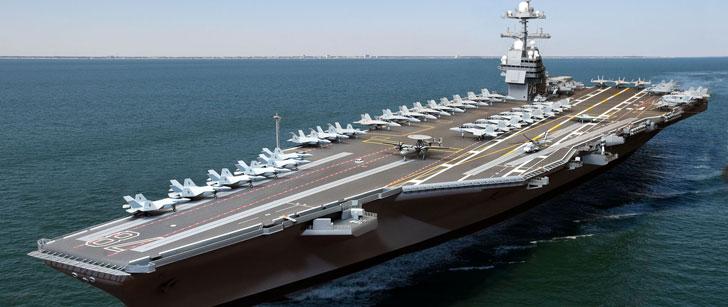 Le co t d 39 exploitation d un porte avions am ricain est de for Porte avions gerald r ford